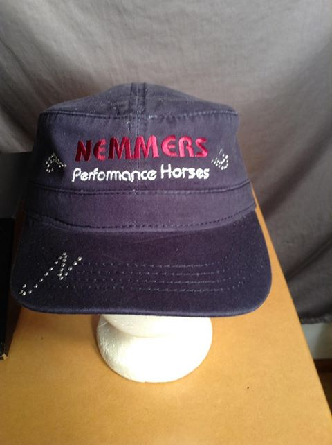 Nemmers embroidered hat with bling